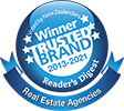 Harcourts, Winner of Trusted Brands logo